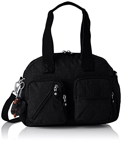 Kipling Damen DEFEA UP Henkeltasche, Schwarz (True Black), 33x24.5x19 cm