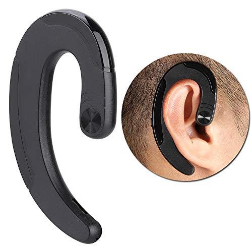 Kafuty Mini Manos Libres Bluetooth Impermeable Auriculares inalámbricos Deportivos de conducción ósea Auriculares de diseño ergonómico con micrófono, Durabilidad.(Negro)