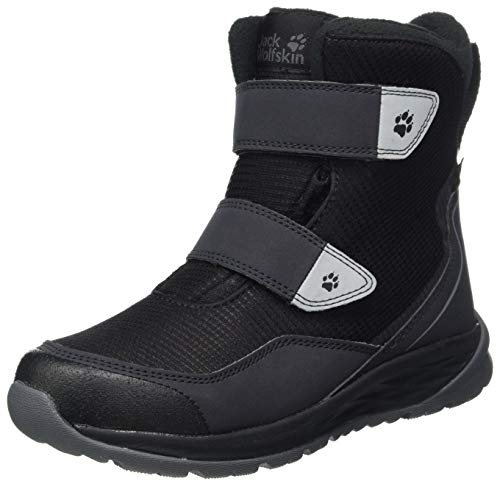 Jack Wolfskin Polar Bear Texapore HIGH VC K Schneestiefel, Black/Grey, 36 EU
