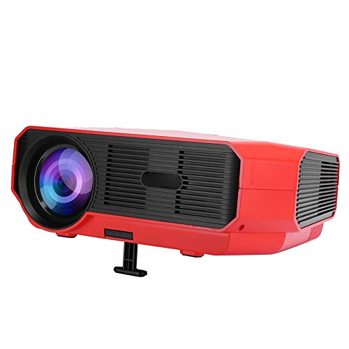 Ccylez A4300 Pro Video Projector, 4K 3D Supported Native 720P Mini Projector, Home Theater Projector Compatible with HDMI/USB/HD/SD/AV/VGA, WiFi Portable Projector For Android 6.01 OS X(Red)