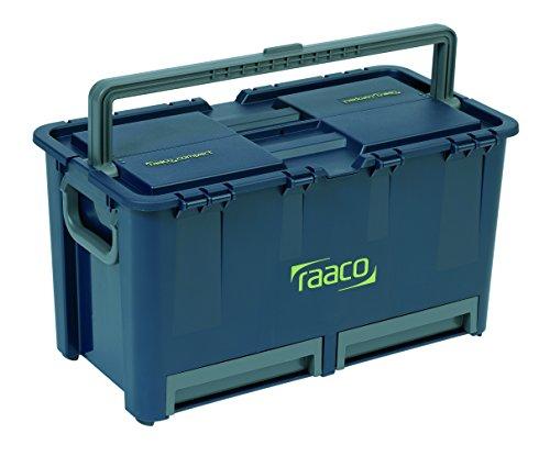 raaco 136600 Werkz-Koffer Werkzeugkoffer Compact 47, dunkelblau