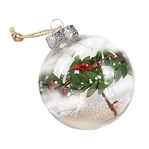 Transparent Christmas Ball LED Decoration Festival Pendant Gift Hollow Ball