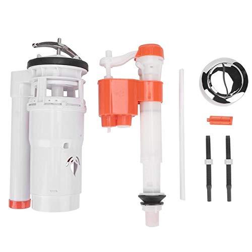 Kit de reparación de inodoro Válvula de deslizamiento de llenado de inodoro Válvula de entrada de alta presión para una pieza Aseo WC Botón Piezas de reemplazo Piezas de inodoro Kit de accesorios wc