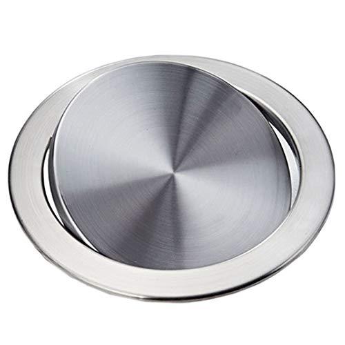 Dasing Tapa de la Tapa de la Basura de Acero Inoxidable Tapa de la Papelera Tapa de la Balanza Empotrada Balanceada Tapa de la Basura de la Tapa Oscilante para la Encimera de la Cocina D