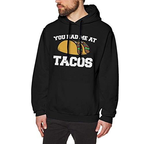 XCNGG You Had Me at Tacos Sudadera con Capucha Casual sin Bolsillos para Hombre