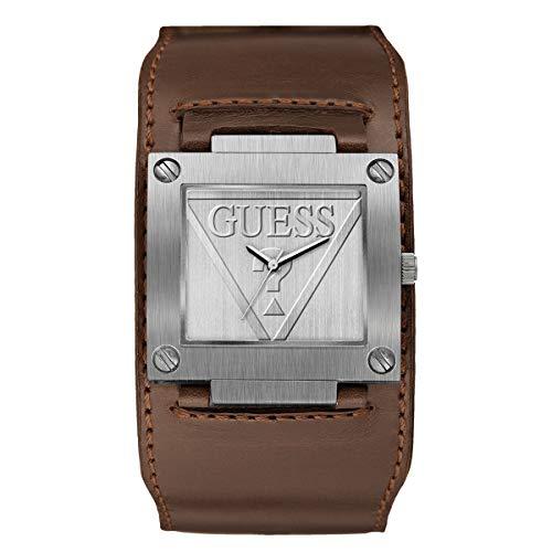 GUESS Reloj Analógico para Hombre de Cuarzo con Correa en Cuero W1166G1