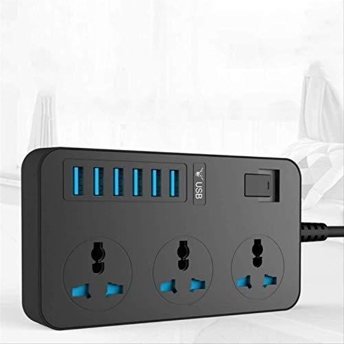 JUNPE Con USB 2 M Smart Power Potencia Extensión Base múltiple 6 USB 3000w Puerto 3 Universal Toma de Corriente CA de sockets Enchufe Grande Extensión Tarjeta de corrección