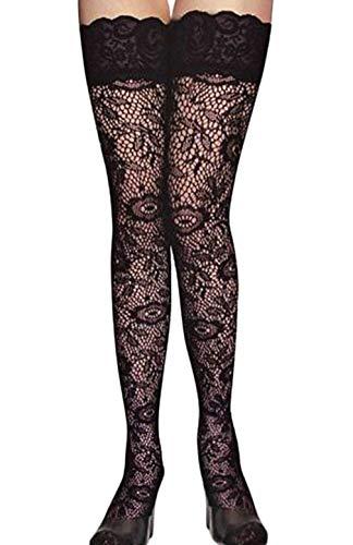 KIRALOVE Sexy halterlose frauen - phantasie bestickt - breites band - spitze - schwarze farbe - einheitsgröße - mädchenschuhe