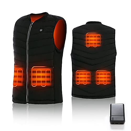 CPHST Heated Vest for Men Women , USB Electric Heated Jacket With 10000mAh Battery,Lightweight Warm Vest Outdoor