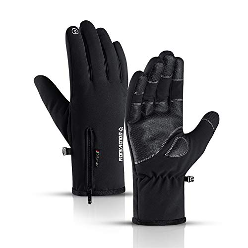 Touch Screen Novelty Gloves & Mittens Thicker, -22℉ Outdoor Sport Recreation, Men's Women's Winter Warmest Waterproof Windproof Gloves, Cycling Climbing Skiing, High-Density Nylon Fabric (M)