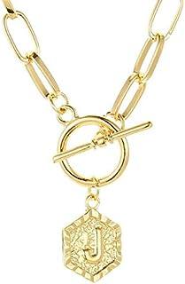 Janly Clearance Sale Women Necklaces & Pendants , 26 English Letter Pendant Chain Retro Paperclip Necklace Hexagon , Valen...