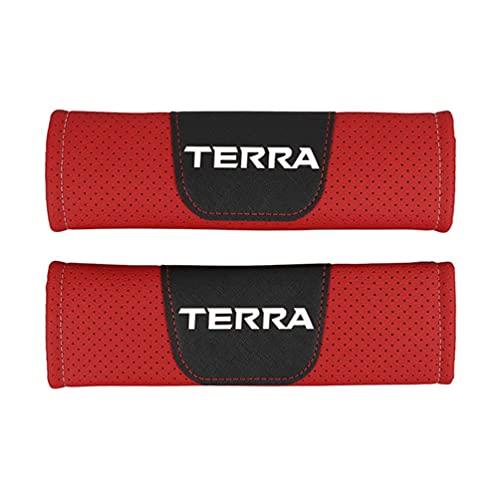 Almohadillas Para CinturóN Seguridad AutomóVil Almohadillas Confort,Para Nissan Terra AutomóVil Cuero PU Moda Seguridad Cubierta CinturóN Seguridad Cinturones Seguridad Hombreras AutomóVil 2 Piezas