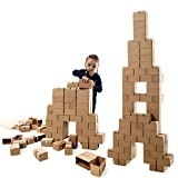 GIGI Bloks Bloques de Construcción Gigantes de Cartón Para Niños, Set de Bloques Infantiles de 96 Piezas XL Apilables, Juguetes Montessori de Ladrillos de Construcción Grandes de Tamaño Real
