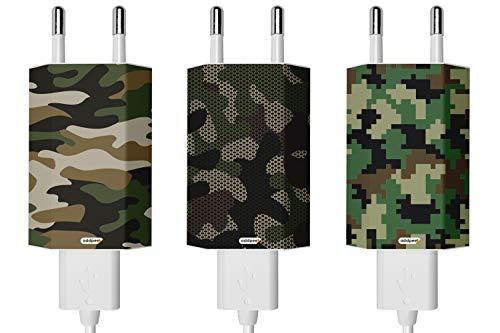 Oedim Pack de 3 Pegatinas Camouflage AddPeel para Cargadores compatibles | Apple | iPhone...