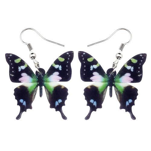 NA - Pendientes acrílicos Guinea de mariposa, con gotas de agua, para grandes insectos