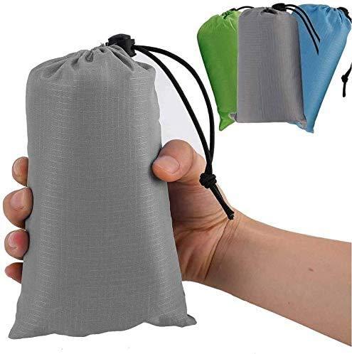 SAIYI Huella de Bolsillo Colchoneta Ultraligero Impermeable Capa de Picnic Playa Tienda de campaña al Aire Libre Lona Multifuncional (Color : Dark Grey)