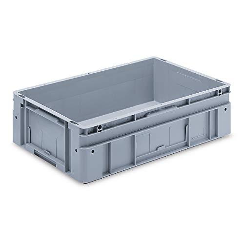 utz Euronorm-Stapelbehälter - Außen-LxBxH 600 x 400 x 170 mm - grau, VE 2 Stk - Box Euronorm Stapelkasten Euronorm Stapelkästen Euronorm-Stapelbehälter Euronorm-Stapelkasten Kiste Lagerkasten