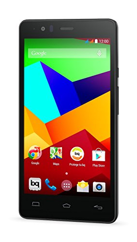 BQ Aquaris E5 LTE - Smartphone libre Android (pantalla 5 pulgadas, cámara 13 Mp. 16 GB, Qualcomn Snapdragon 410 Quad-Core A53, 2 GB RAM), color negro
