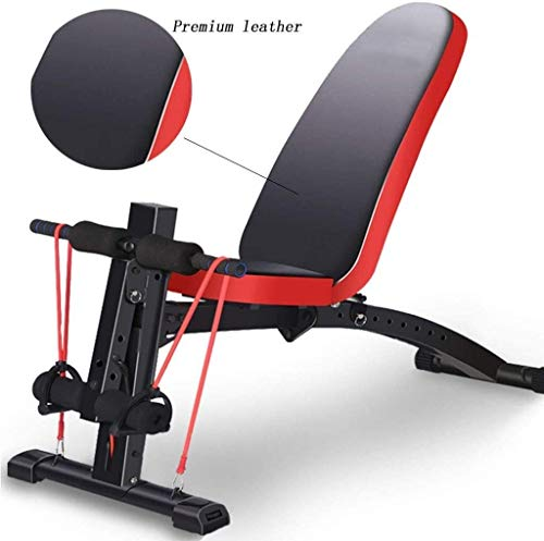 WBZ ZJX Adjustable Benches, Dumbbell Stool Bird Stool Multifunctional Abdominal Abdominal Device Home Exercise Fitness Supine Board