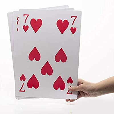 Jumbo Playing Cards Full Deck Huge Poker Index Giant Playing Cards Fun for All Ages! - Size 8.5 x 11 Inches by Prextex