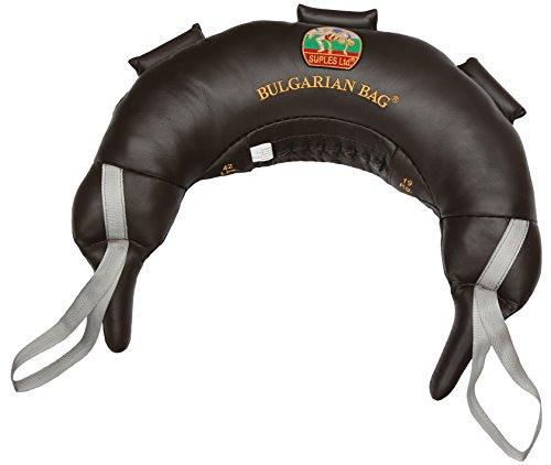 Bulgarische Tasche, echtes Leder, 42 kg (Fitness, Crossfit, Wrestling, Judo, Grappling, Functional Training, MMA, Sandsack)