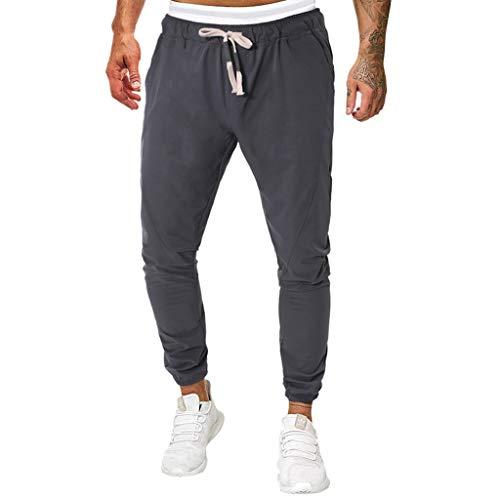 Herren Hose Classics Cargo Hose Jogging Pants,New Lässige einfarbige Sport-Fitness-Hose Normallack Lange Jeans Slim Fit Hosen Freizeithose M-4XL