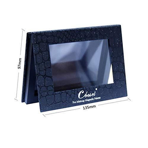 Coosei Lidschatten-Palette, klein, 13 x 9 cm, leer, Krokodilmuster, schwarz, 6 x 36 mm.