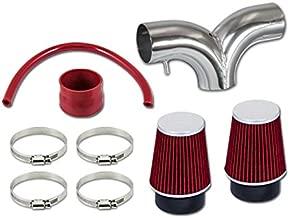 R&L Racing Red Dual Short Ram Air Intake Kit + Filter 02-11 For Ram 1500 3.7L V6 02-07 Ram 1500 4.7L V8 04-10 Dakota 3.7 V6 4.7L V8