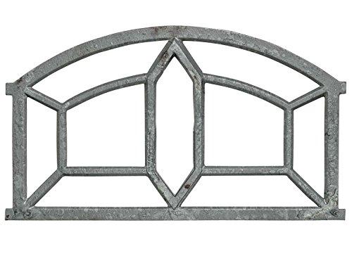 Fenster grau Stallfenster Eisenfenster Scheunenfenster Eisen 89cm Antik-Stil (o)