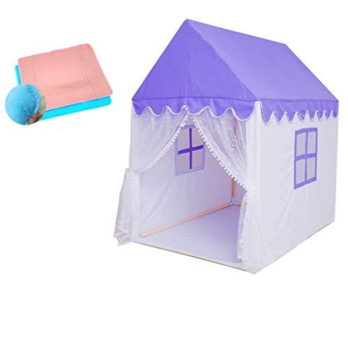 SZQ-Speeltenten Big Purple House, Indoor Girls Tent Children's Room Toy House Portable Lichtgewicht Tent Princess Room Oceaan Ball Pool Kinderen spelen huis (Color : B, Size : 125 * 95 * 140CM)