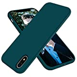 OTOFLY Compatible with iPhone XR Case 6.1 inch,[Silky and Soft Touch Series] Premium Soft Liquid Silicone Rubber Full-Body Protective Bumper Case for iPhone XR (Teal)