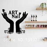zhuzhuwen Cita Pegatinas de Pared, Nuevo diseño Kinder Room Decorationvinyl, Esmalte de uñas Beauty Master Varnish Polish Manicure Stylist Nail WM 55Cm X 87Cm