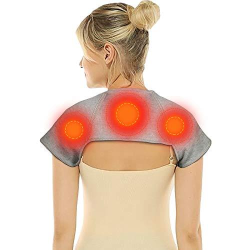 Heizkissen Rücken, Wärmekissen Nacken, Wärmekissen Rücken, Heizkissen Nacken,Turmalin selbsterhitzende Wärmecape, Heizkissen für Rücken Schulter Nacken zur Linderung von Nacken-Schulterschmerzen