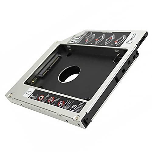 SOLUSTRE 2. Kit de Soporte de Montaje de Disco Duro Interno de 5 Pulgadas Adaptador de Disco Duro Soporte de Disco Duro de Bandeja HDD SSD para La Bahía Óptica del Ordenador Portátil 12.