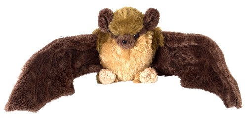 Wild Republic Brown Bat Plush, Stuffed Animal, Plush Toy, Gifts for Kids, Cuddlekins, 8