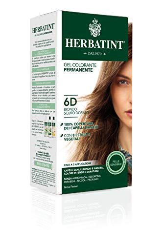 Herbatint 6D Dark Golden Blonde Permanent Herbal Hair Colour Gel 135ml