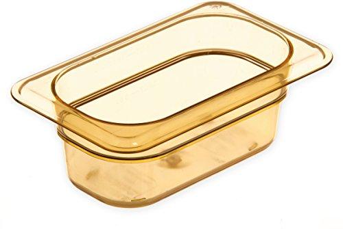 Purchase Carlisle 3088613 StorPlus High Heat Food Pan, 2.5 Deep, Ninth Size, Amber, 1/9 Size (Pack ...