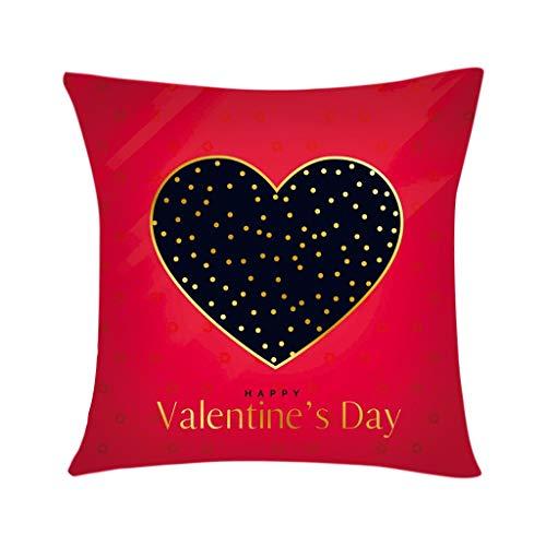 Kingwani  Funda de almohada para el día de San Valentín, sofá y coche, funda de cojín para decoración del hogar, accesorios para el hogar caliente Sweet Shop ahora.