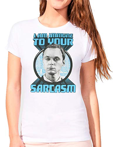 Camiseta de Mujer The Big Bang Theory Sheldon Bazinga Penny Leonard 013 S