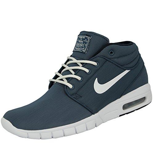 Nike Nike Herren Stefan Janoski Max Mid Skateboardschuhe, Blau Weiß Sqdrn Bl Weiß Drk Obsdn Weiß, 40.5 EU