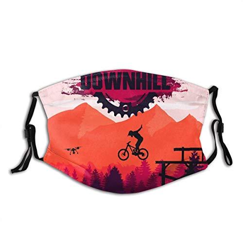 Face Ma-Schera Mountain bike Downhill Freeride Sport estremo Passamontagna Bocca Bandane Scaldacollo con 2 filtri