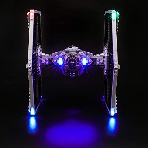 BRIKSMAX Kit de Iluminación Led para Lego Star Wars Caza Tie Imperial -Compatible con Ladrillos de Construcción Lego Modelo 75211, Juego de Legos no Incluido
