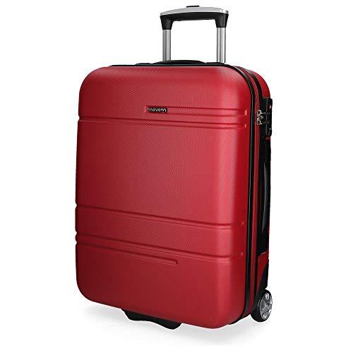 Movom Galaxy Maleta de cabina Rojo 39x55x20 cms Rígida ABS Cierre TSA 38L 2,7Kgs 2 Ruedas Equipaje de Mano
