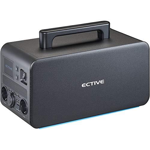ECTIVE 1000W 1080Wh tragbare Power Station 4 in 1 BlackBox 10 230V/12V mit integrierter 100Ah Lithium-Batterie für Camping Solar und Auto