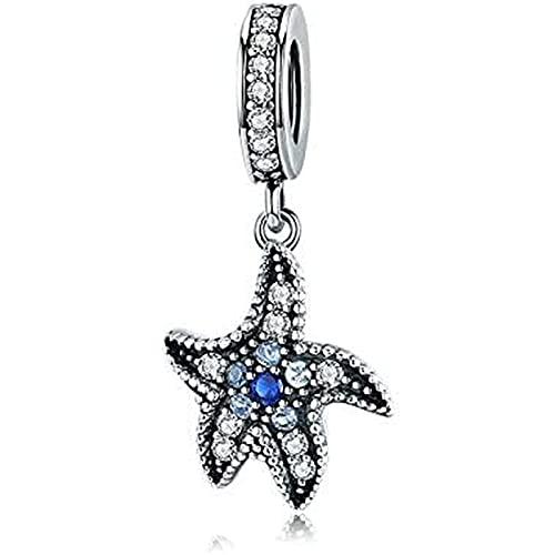 Wideocean Colgante de la Pulsera de la brazaletilla de la Perla Accesorios de joyería S925 Colgante de Moda de Plata esterlina