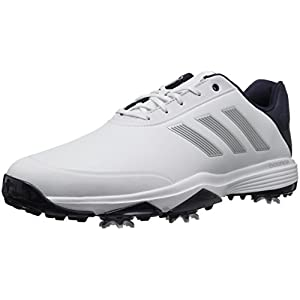 adidas Men's Adipower Bounce Golf Shoe, White/Silver Metallic/Noble Ink, 10.5 M US