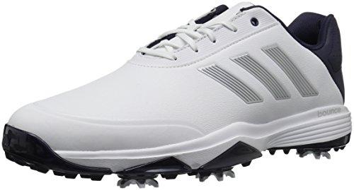 adidas Men's Adipower Bounce Golf Shoe, White/Silver Metallic/Noble Ink, 15 M US