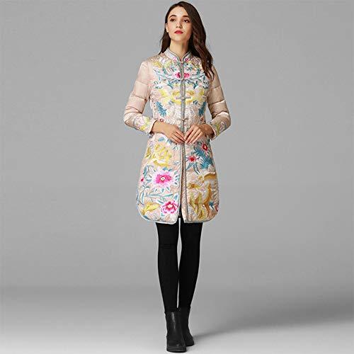 DITUI - Abrigo de invierno para mujer, estilo chino, estilo