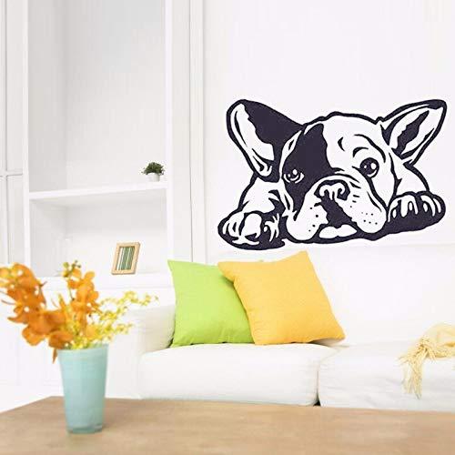 YuanMinglu Neue Heiße Französische Bulldogge Hund Wandaufkleber Vinyl Kunst Wandaufkleber Wohnkultur Wandbild Wohnzimmer Aufkleber 85x57 cm
