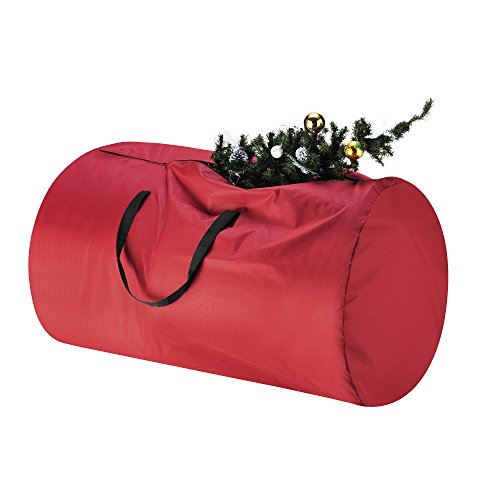 Tiny Tim Totes Canvas Christmas Tree Storage Bag | Extra Large Duffel For 9 Foot Artificial Tree in Red